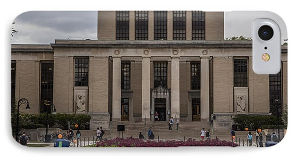 Library At Penn State University  IPhone Case by John McGraw