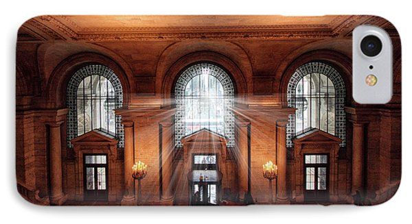 IPhone 7 Case featuring the photograph Library Entrance by Jessica Jenney