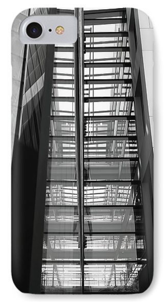 Library Skyway IPhone Case by Rona Black