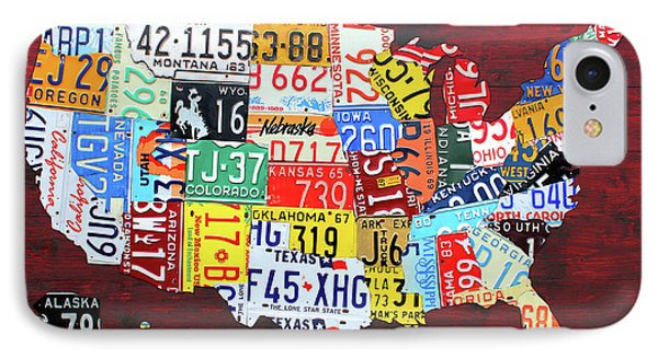 License Plate Map Of The United States Custom Edition 2017 IPhone Case by Design Turnpike