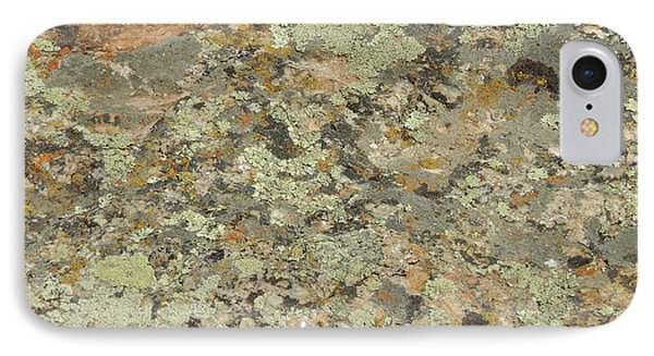 Lichens On Boulder IPhone Case by Jayne Wilson
