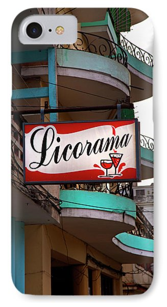 Licorama Bar Liquor Store In Havana Cuba At Calle 6 IPhone Case by Charles Harden