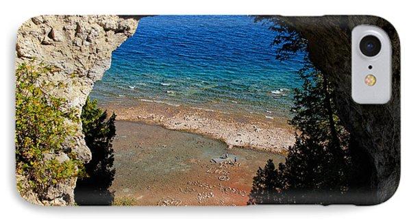 Life Below Arch Rock IPhone Case by Rachel Cohen