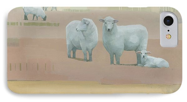 Sheep iPhone 7 Case - Life Between Seams by Steve Mitchell