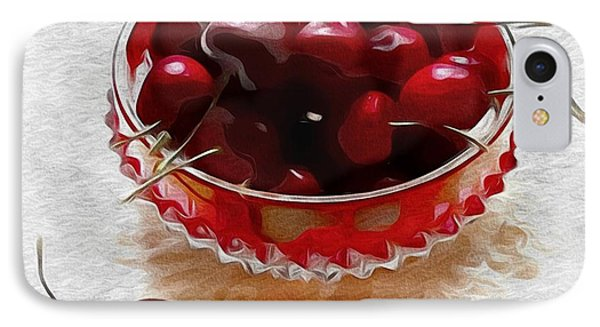 IPhone Case featuring the digital art Life Is A Bowl Of Cherries by Alexis Rotella