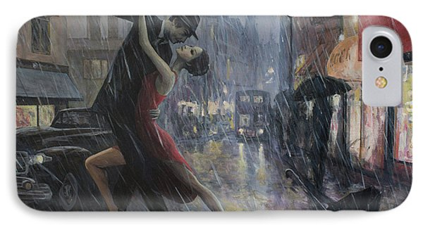 Life Is A Dance In The Rain IPhone Case by Adrian Borda
