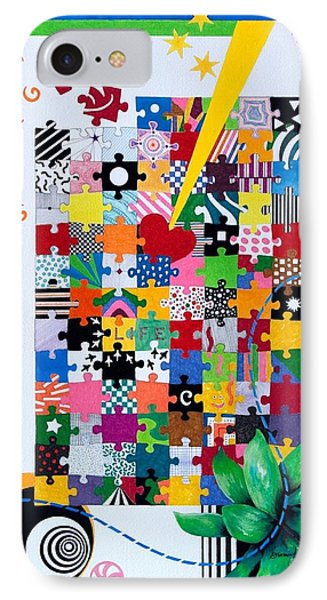 Life Is A Puzzle IPhone Case by Thomas Gronowski