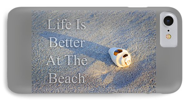 Life Is Better At The Beach - Sharon Cummings IPhone Case by Sharon Cummings