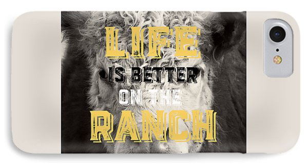 Life Is Better On The Ranch Square IPhone Case by Edward Fielding