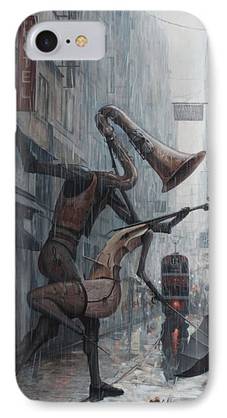 Street iPhone 7 Case - Life Is  Dance In The Rain by Adrian Borda