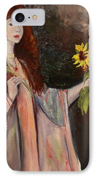 IPhone Case featuring the painting Life Is Fragile Handle With Flowers by Jane Autry