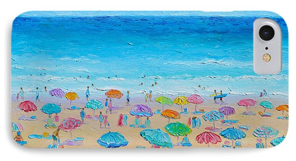 Life On The Beach IPhone Case by Jan Matson