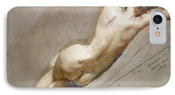 Nudes iPhone 7 Case - Life Study Of The Female Figure by William Edward Frost