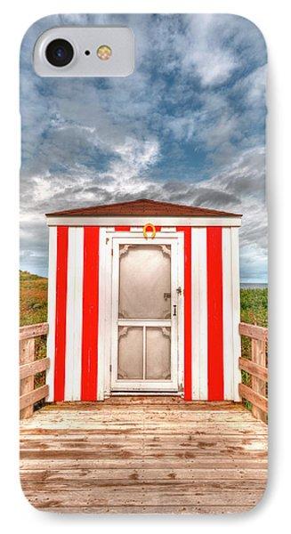 Lifeguard Hut Phone Case by Elisabeth Van Eyken