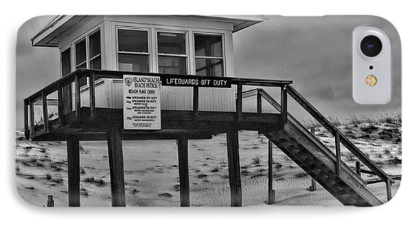 Lifeguard Station 1 In Black And White IPhone Case by Paul Ward