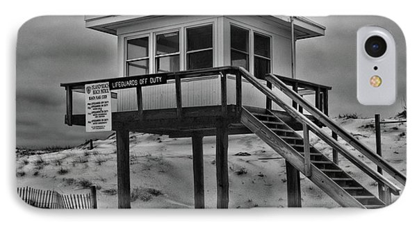 Lifeguard Station 2 In Black And White IPhone Case by Paul Ward