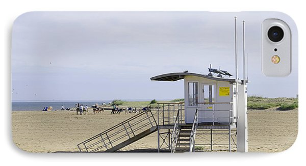 Lifeguard Station At Skegness Phone Case by Rod Johnson