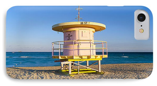 Lifeguard Station At South Beach, Miami IPhone Case by Panoramic Images