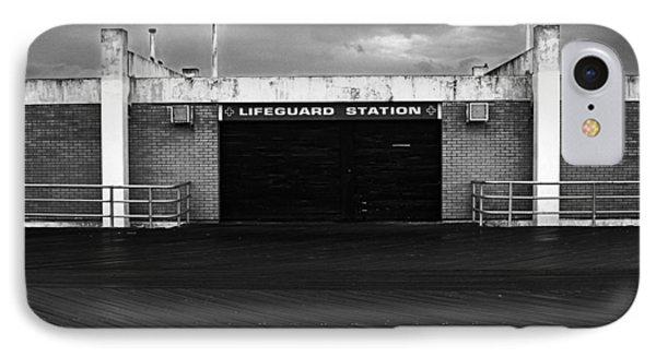 Lifeguard Station, Coney Island IPhone Case by Catherine Jones