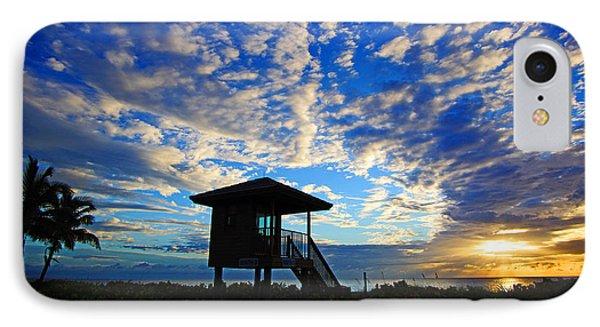 Lifeguard Station Sunrise IPhone Case