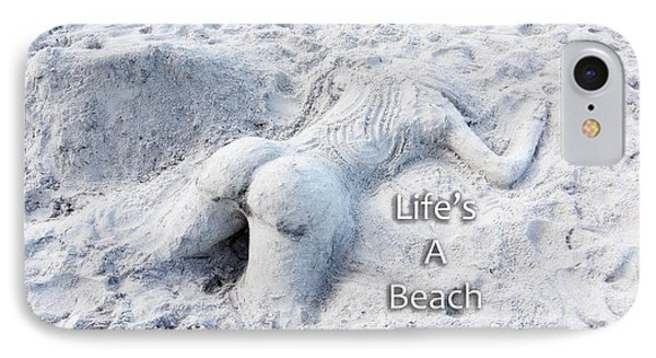 Life's A Beach By Sharon Cummings IPhone Case by Sharon Cummings