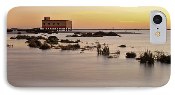 Lifesavers Building At Dusk In Fuzeta. Portugal Phone Case by Angelo DeVal