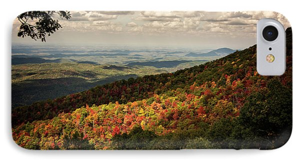 IPhone Case featuring the photograph Light And Shadow On Tennessee Mountains by Chrystal Mimbs