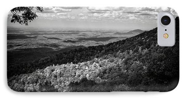 IPhone Case featuring the photograph Light And Shadow On Tennessee Mountains In Black And White by Chrystal Mimbs