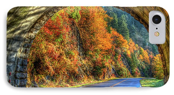 IPhone Case featuring the photograph Light At The End Of The Tunnel Blue Ridge Parkway Art by Reid Callaway