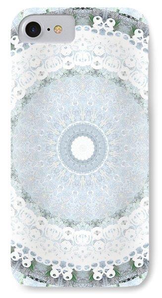 Light Blue Mandala- Art By Linda Woods IPhone Case by Linda Woods