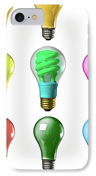 Light Bulbs Of A Different Color IPhone Case by Bob Orsillo
