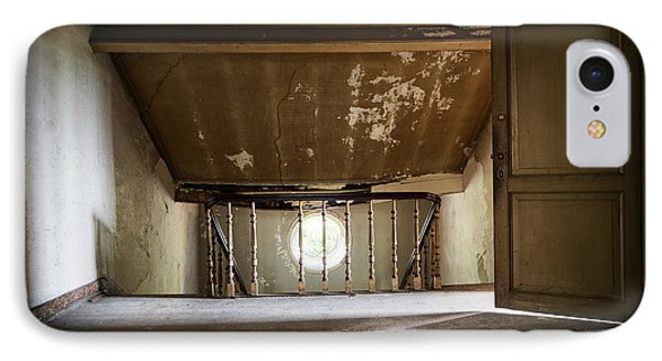 Light From The Spooky Attic - Abandoned Building IPhone Case