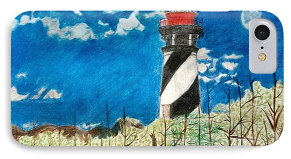 Light House By The Sea IPhone Case