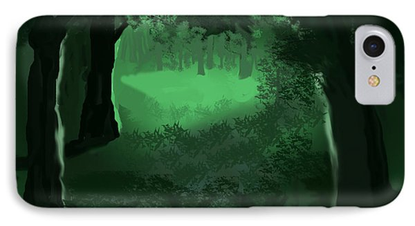 Light In The Forest IPhone Case by Walter Chamberlain