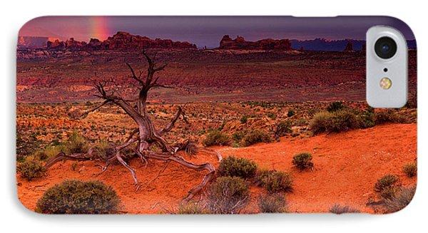 Light Of The Desert IPhone Case by John De Bord