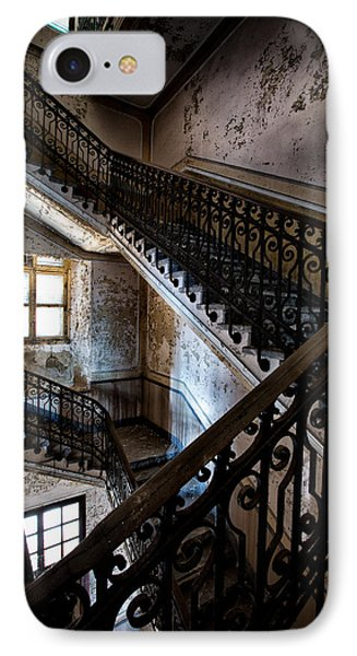Light On The Stairs - Urban Exploration IPhone Case by Dirk Ercken