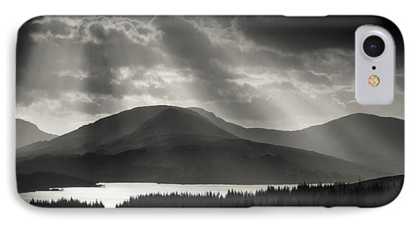 Light Over Loch Tulla IPhone Case by Dave Bowman