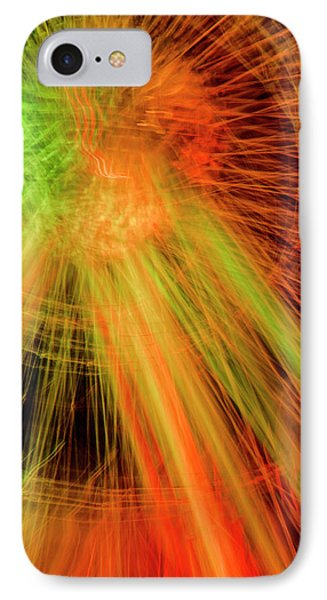 Light Painting At Night IPhone Case