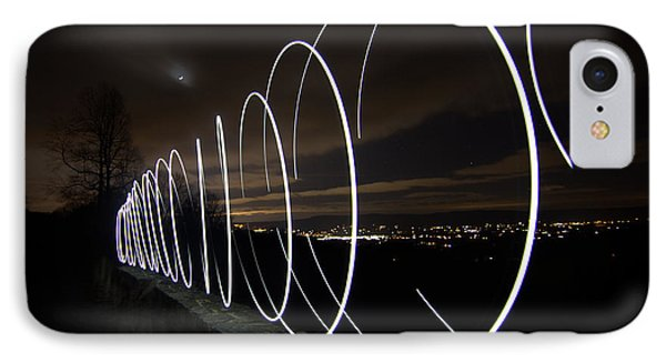 Light Painting In Snp IPhone Case by Shannon Louder