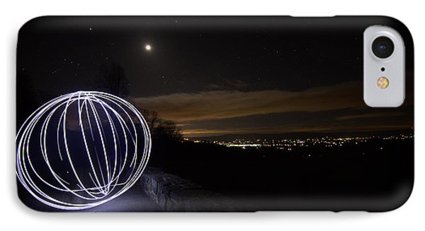 Light Painting On Skyline Drive IPhone Case by Shannon Louder