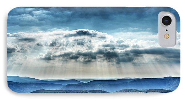 IPhone Case featuring the photograph Light Rains Down by Thomas R Fletcher
