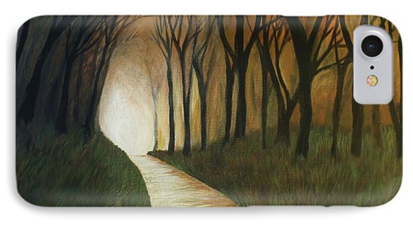 IPhone Case featuring the painting Light The Path by Christy Saunders Church