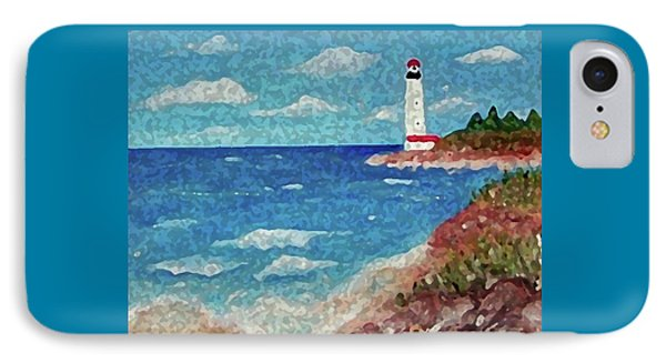 IPhone Case featuring the painting Light The Way by Sonya Nancy Capling-Bacle