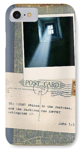 Light Through Window And Scripture Phone Case by Jill Battaglia