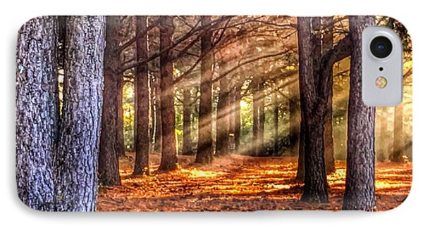 Light Thru The Trees IPhone Case by Sumoflam Photography