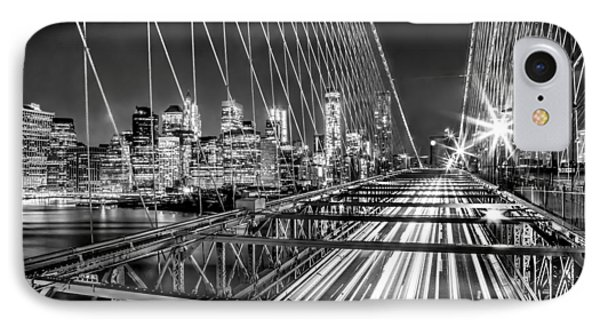 Light Trails Of Manhattan IPhone Case by Az Jackson