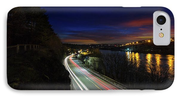 Light Trails On Highway 99 Phone Case by David Gn