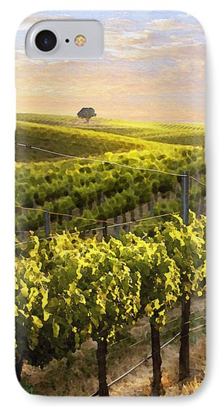 Lighted Vineyard Phone Case by Sharon Foster