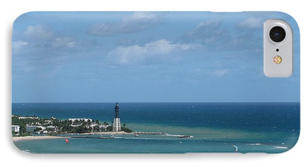 Lighthouse And Kiteboarding IPhone Case