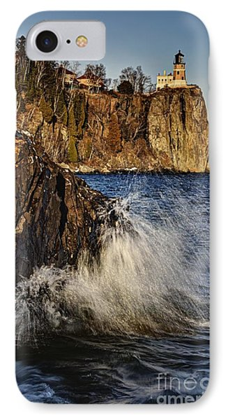 IPhone Case featuring the photograph Lighthouse And Spray by Larry Ricker